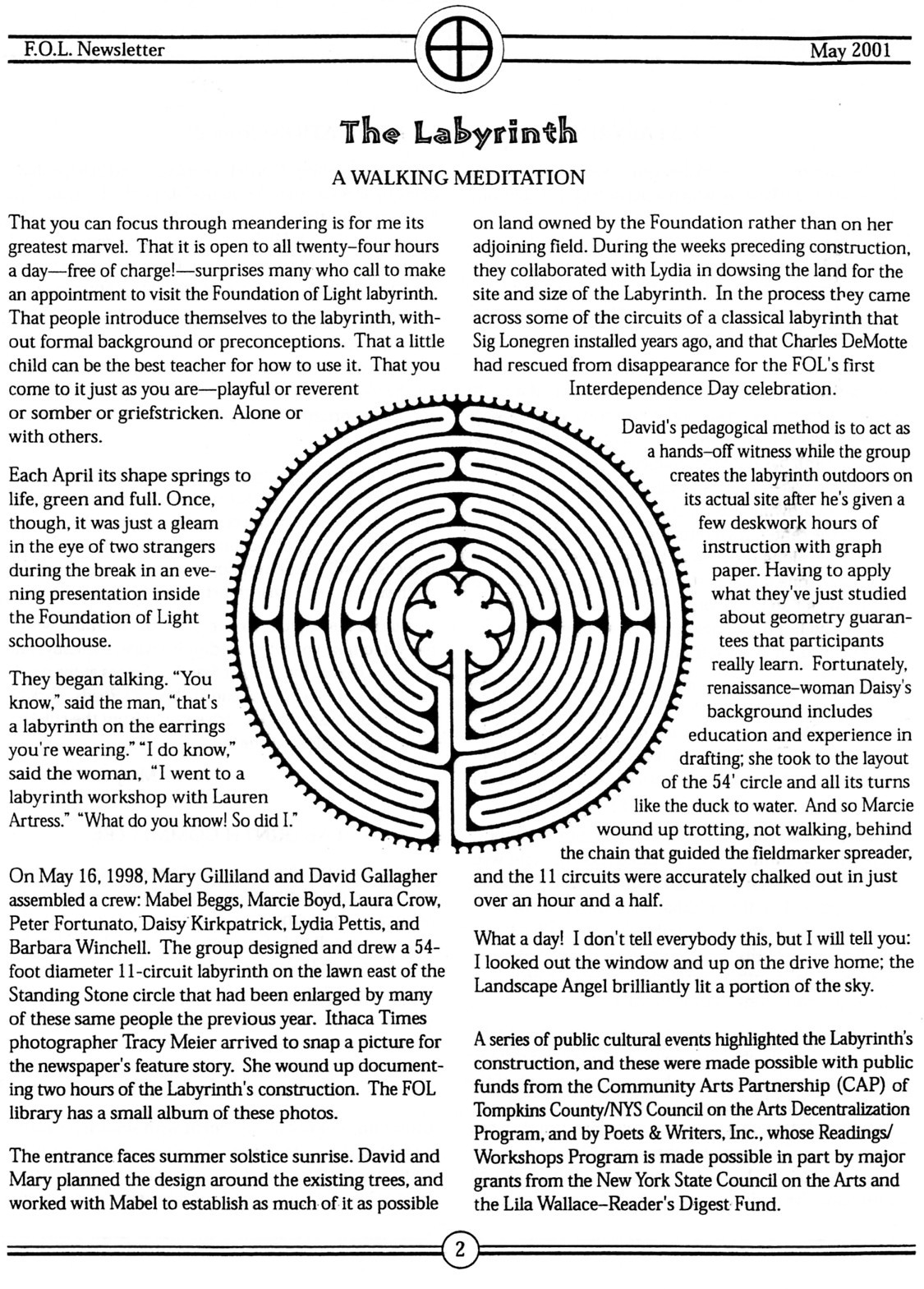 Mary Gillilands Webpage Writings How To Make A Classical 5 Circuit Labyrinth From Meander